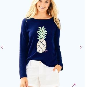 Lilly Pulitzer Roselle Pineapple Sweater